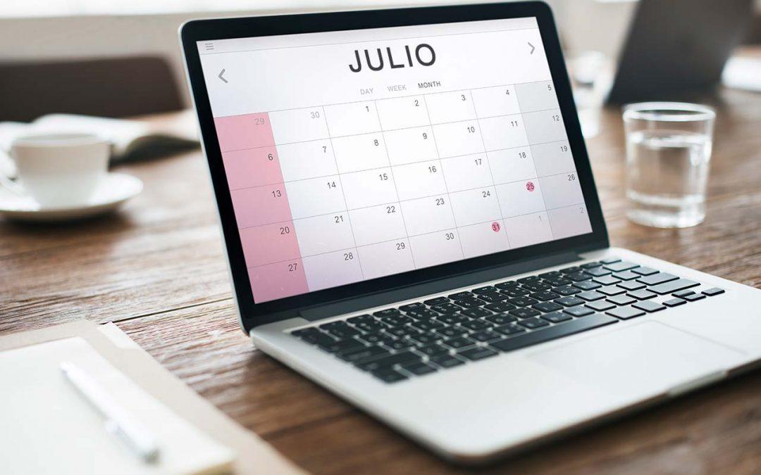 Calendario del contribuyente – Julio 2021