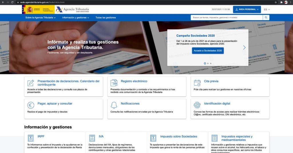 Nueva web de la Agencia Tributaria