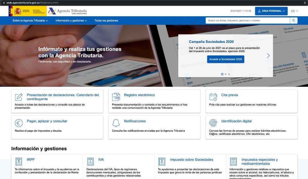 La Agencia Tributaria pone en marcha su nueva web